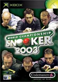 Box cover for World Championship Snooker 2003 on the Microsoft Xbox.