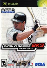 Box cover for World Series Baseball 2K3 on the Microsoft Xbox.
