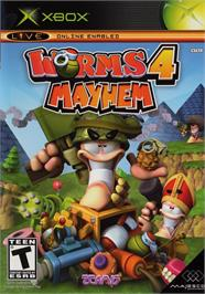 Box cover for Worms 4: Mayhem on the Microsoft Xbox.