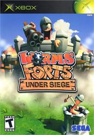 Box cover for Worms Forts: Under Siege on the Microsoft Xbox.