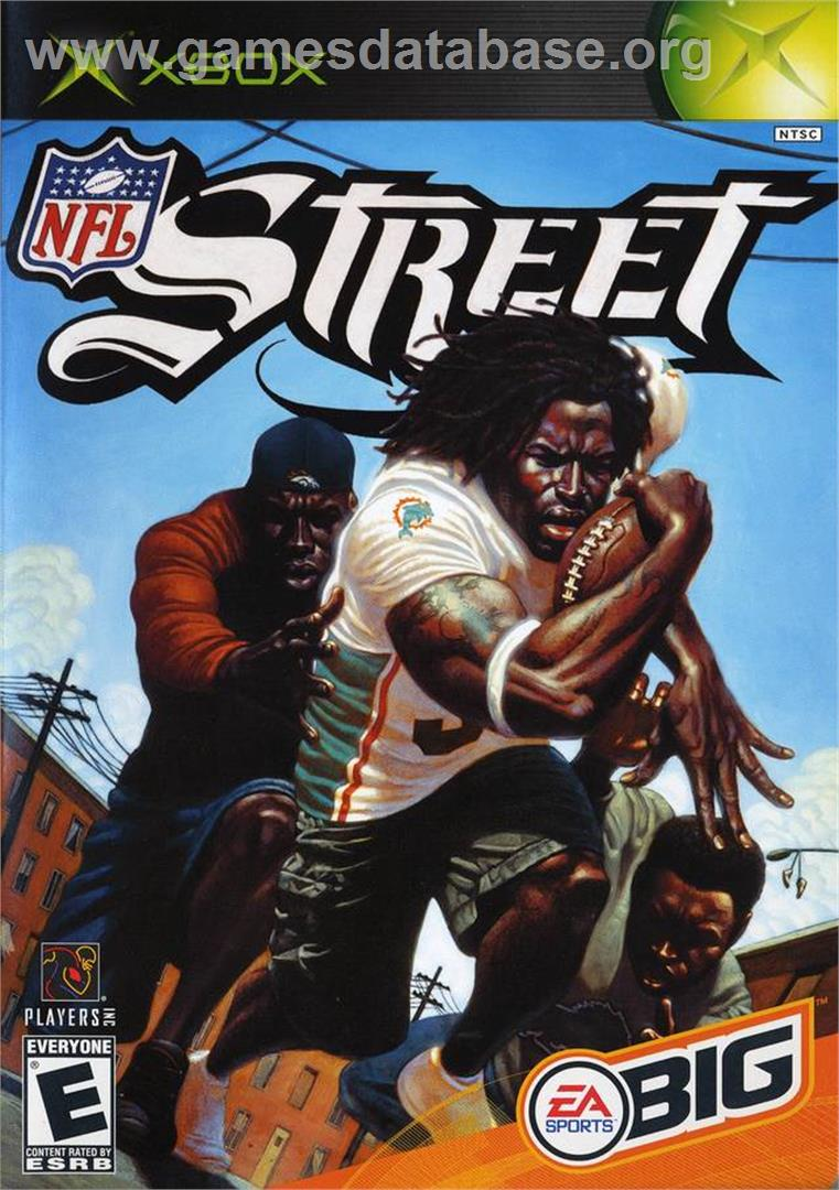 Box cover for NFL Street on the Microsoft Xbox.