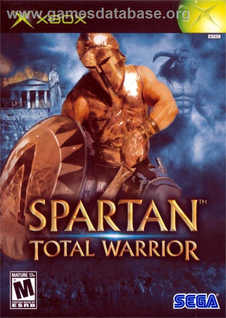 Box cover for Spartan: Total Warrior on the Microsoft Xbox.