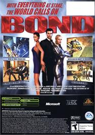 Box back cover for 007: Everything or Nothing on the Microsoft Xbox.