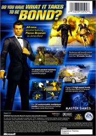 Box back cover for 007: Nightfire on the Microsoft Xbox.