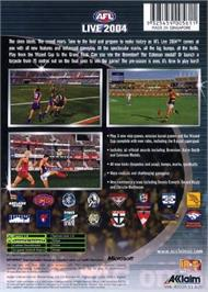 Box back cover for AFL Live 2004 on the Microsoft Xbox.