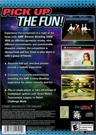 Box back cover for AMF Xtreme Bowling on the Microsoft Xbox.