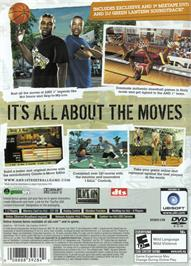 Box back cover for AND 1 Streetball on the Microsoft Xbox.