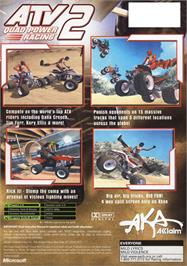 Box back cover for ATV: Quad Power Racing 2 on the Microsoft Xbox.