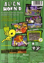 Box back cover for Alien Hominid on the Microsoft Xbox.