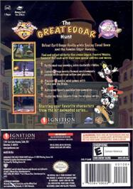 Box back cover for Animaniacs: The Great Edgar Hunt on the Microsoft Xbox.