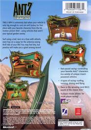 Box back cover for Antz Extreme Racing on the Microsoft Xbox.