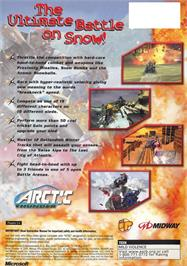 Box back cover for Arctic Thunder on the Microsoft Xbox.