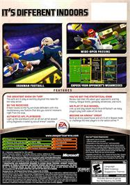 Box back cover for Arena Football on the Microsoft Xbox.