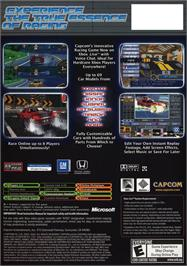 Box back cover for Auto Modellista on the Microsoft Xbox.