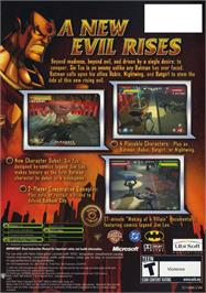 Box back cover for Batman: Rise of Sin Tzu on the Microsoft Xbox.