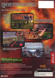 Box back cover for Battle Engine Aquila on the Microsoft Xbox.
