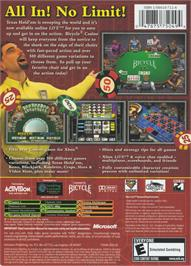 Box back cover for Bicycle Casino on the Microsoft Xbox.