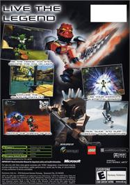 Box back cover for Bionicle on the Microsoft Xbox.