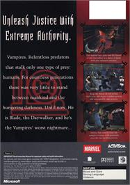 Box back cover for Blade 2 on the Microsoft Xbox.