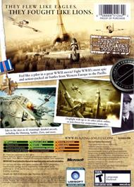 Box back cover for Blazing Angels: Squadrons of WWII on the Microsoft Xbox.