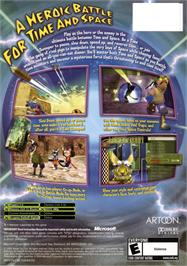 Box back cover for Blinx 2: Masters of Time and Space on the Microsoft Xbox.