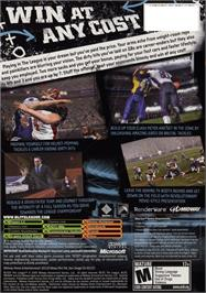 Box back cover for Blitz: The League on the Microsoft Xbox.