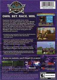 Box back cover for Breeders' Cup World Thoroughbred Championships on the Microsoft Xbox.