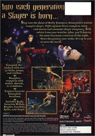 Box back cover for Buffy the Vampire Slayer on the Microsoft Xbox.