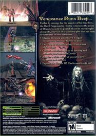Box back cover for Castlevania: Curse of Darkness on the Microsoft Xbox.
