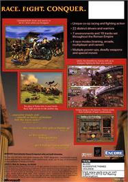 Box back cover for Circus Maximus: Chariot Wars on the Microsoft Xbox.