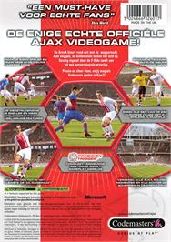 Box back cover for Club Football 2005 on the Microsoft Xbox.