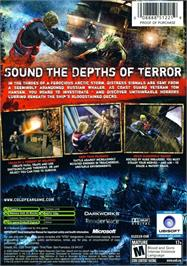 Box back cover for Cold Fear on the Microsoft Xbox.