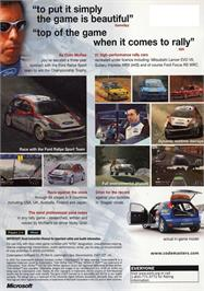 Box back cover for Colin McRae Rally 3 on the Microsoft Xbox.