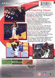 Box back cover for College Hoops 2K6 on the Microsoft Xbox.