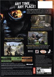 Box back cover for Combat: Task Force 121 on the Microsoft Xbox.