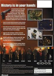 Box back cover for Commandos 2: Men of Courage on the Microsoft Xbox.