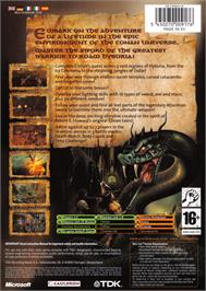 Box back cover for Conan on the Microsoft Xbox.