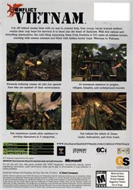 Box back cover for Conflict: Vietnam on the Microsoft Xbox.
