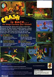 Box back cover for Crash Bandicoot: The Wrath of Cortex on the Microsoft Xbox.