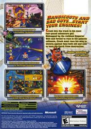 Box back cover for Crash Nitro Kart on the Microsoft Xbox.