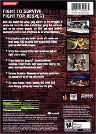 Box back cover for Crime Life: Gang Wars on the Microsoft Xbox.