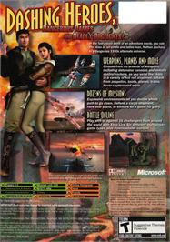 Box back cover for Crimson Skies: High Road to Revenge on the Microsoft Xbox.