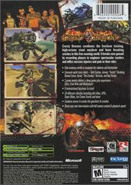 Box back cover for Crusty Demons on the Microsoft Xbox.