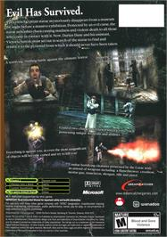Box back cover for Curse: The Eye of Isis on the Microsoft Xbox.