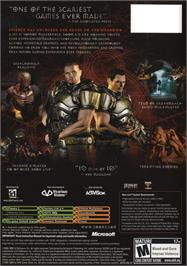 Box back cover for DOOM³ (Limited Collector's Edition) on the Microsoft Xbox.