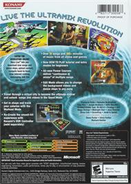Box back cover for Dance Dance Revolution Ultramix 4 on the Microsoft Xbox.