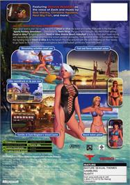 Box back cover for Dead or Alive: Xtreme Beach Volleyball on the Microsoft Xbox.
