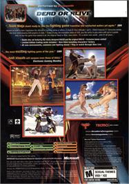 Box back cover for Dead or Alive Ultimate on the Microsoft Xbox.