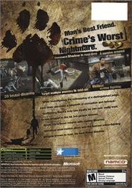 Box back cover for Dead to Rights 2 on the Microsoft Xbox.