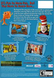 Box back cover for Dr. Seuss' The Cat in the Hat on the Microsoft Xbox.